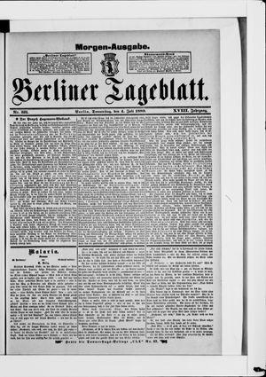 Berliner Tageblatt und Handels-Zeitung vom 04.07.1889
