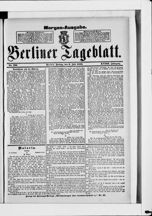 Berliner Tageblatt und Handels-Zeitung vom 05.07.1889