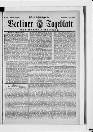 Berliner Tageblatt und Handels-Zeitung vom 06.07.1889