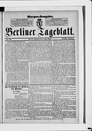 Berliner Tageblatt und Handels-Zeitung vom 07.07.1889