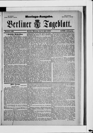 Berliner Tageblatt und Handels-Zeitung vom 08.07.1889