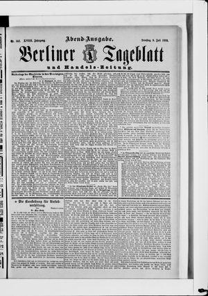 Berliner Tageblatt und Handels-Zeitung vom 09.07.1889