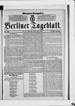 Berliner Tageblatt und Handels-Zeitung vom 10.07.1889