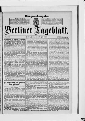 Berliner Tageblatt und Handels-Zeitung on Jul 12, 1889
