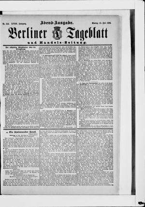 Berliner Tageblatt und Handels-Zeitung vom 15.07.1889