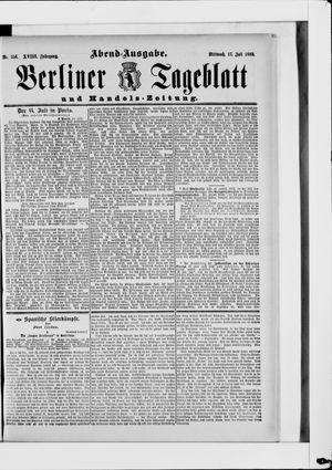 Berliner Tageblatt und Handels-Zeitung vom 17.07.1889