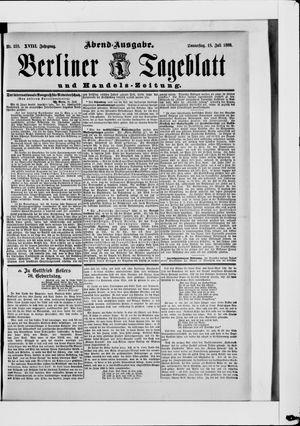 Berliner Tageblatt und Handels-Zeitung vom 18.07.1889