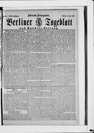 Berliner Tageblatt und Handels-Zeitung on Jul 19, 1889