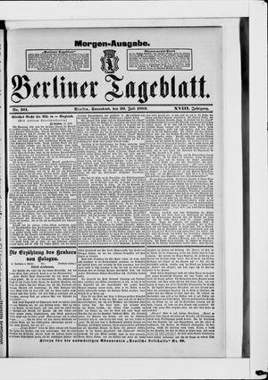 Berliner Tageblatt und Handels-Zeitung on Jul 20, 1889