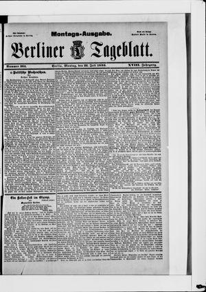 Berliner Tageblatt und Handels-Zeitung vom 22.07.1889