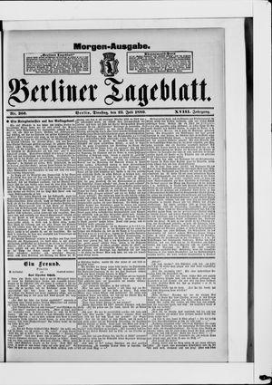 Berliner Tageblatt und Handels-Zeitung vom 23.07.1889