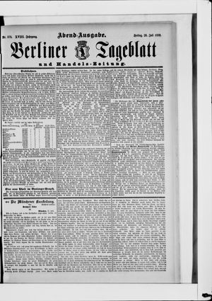 Berliner Tageblatt und Handels-Zeitung on Jul 26, 1889