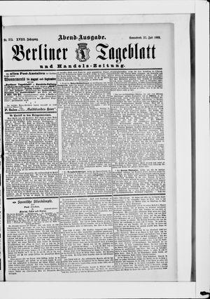 Berliner Tageblatt und Handels-Zeitung vom 27.07.1889