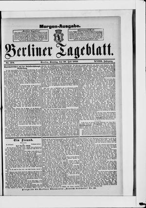 Berliner Tageblatt und Handels-Zeitung on Jul 28, 1889