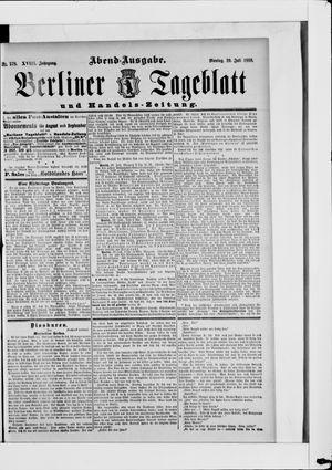 Berliner Tageblatt und Handels-Zeitung vom 29.07.1889