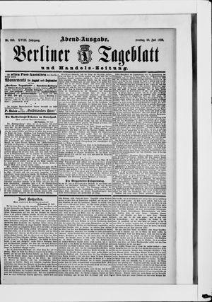 Berliner Tageblatt und Handels-Zeitung vom 30.07.1889