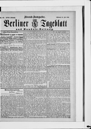 Berliner Tageblatt und Handels-Zeitung vom 31.07.1889