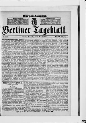 Berliner Tageblatt und Handels-Zeitung vom 01.08.1889