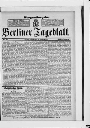 Berliner Tageblatt und Handels-Zeitung vom 02.08.1889