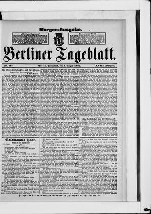 Berliner Tageblatt und Handels-Zeitung vom 03.08.1889