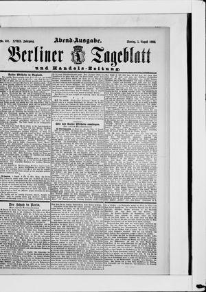 Berliner Tageblatt und Handels-Zeitung vom 05.08.1889