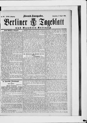 Berliner Tageblatt und Handels-Zeitung vom 08.08.1889