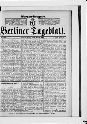 Berliner Tageblatt und Handels-Zeitung vom 09.08.1889