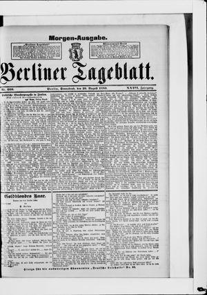 Berliner Tageblatt und Handels-Zeitung vom 10.08.1889