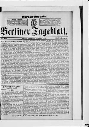 Berliner Tageblatt und Handels-Zeitung vom 11.08.1889