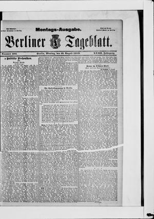 Berliner Tageblatt und Handels-Zeitung vom 12.08.1889