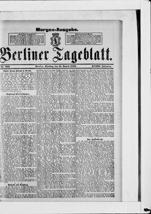 Berliner Tageblatt und Handels-Zeitung vom 13.08.1889