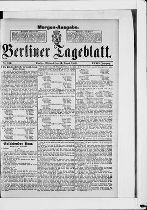 Berliner Tageblatt und Handels-Zeitung vom 14.08.1889