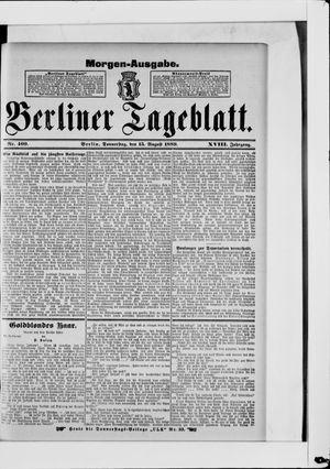 Berliner Tageblatt und Handels-Zeitung vom 15.08.1889