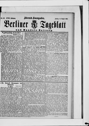 Berliner Tageblatt und Handels-Zeitung vom 16.08.1889