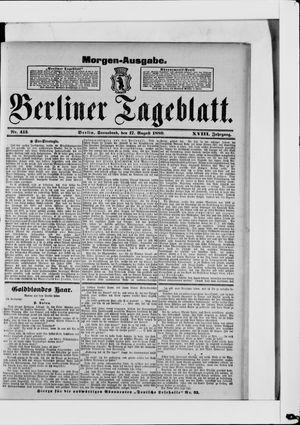 Berliner Tageblatt und Handels-Zeitung vom 17.08.1889