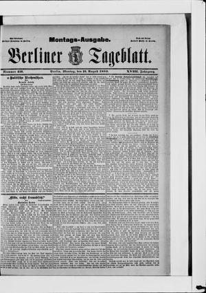 Berliner Tageblatt und Handels-Zeitung vom 19.08.1889