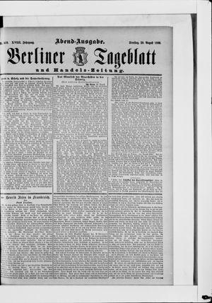 Berliner Tageblatt und Handels-Zeitung vom 20.08.1889