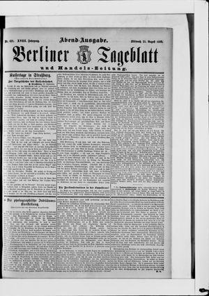 Berliner Tageblatt und Handels-Zeitung vom 21.08.1889