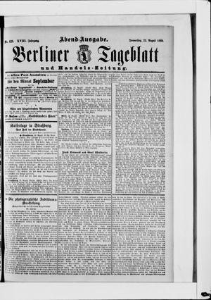 Berliner Tageblatt und Handels-Zeitung vom 22.08.1889