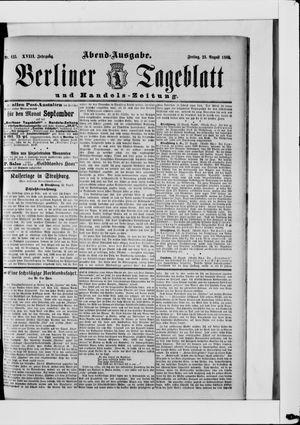 Berliner Tageblatt und Handels-Zeitung vom 23.08.1889