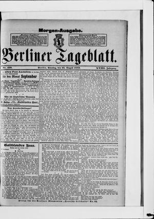 Berliner Tageblatt und Handels-Zeitung vom 25.08.1889