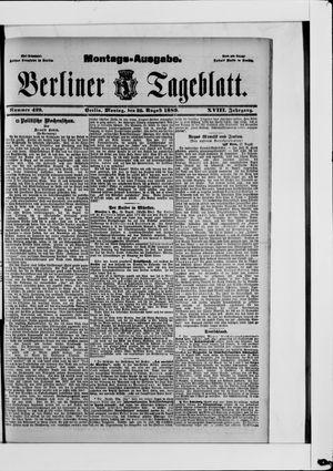 Berliner Tageblatt und Handels-Zeitung vom 26.08.1889