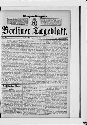 Berliner Tageblatt und Handels-Zeitung vom 27.08.1889