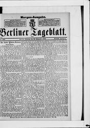 Berliner Tageblatt und Handels-Zeitung (22.09.1889)