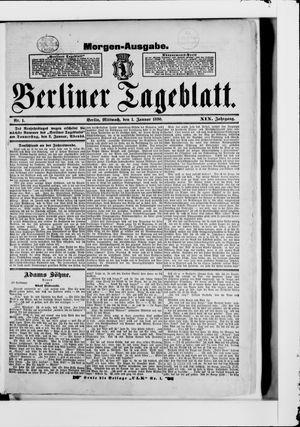 Berliner Tageblatt und Handels-Zeitung vom 01.01.1890