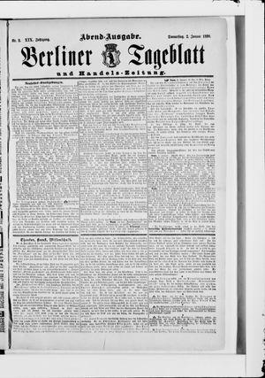 Berliner Tageblatt und Handels-Zeitung vom 02.01.1890