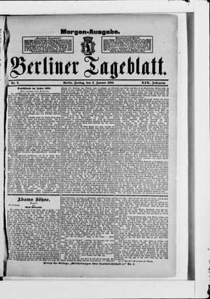 Berliner Tageblatt und Handels-Zeitung vom 03.01.1890