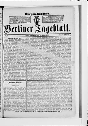 Berliner Tageblatt und Handels-Zeitung vom 04.01.1890
