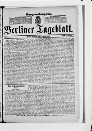 Berliner Tageblatt und Handels-Zeitung vom 05.01.1890
