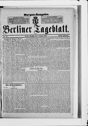 Berliner Tageblatt und Handels-Zeitung vom 07.01.1890